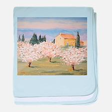 Almond Blossom Cottage baby blanket