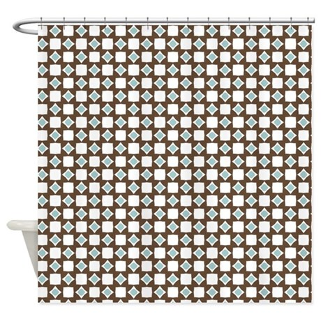 Square Diamond Print Shower Curtain By Printedlittletreasures