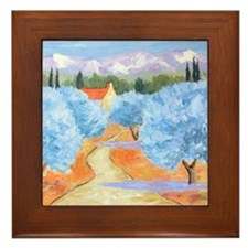 Olive Trees in Les Alpilles Framed Tile
