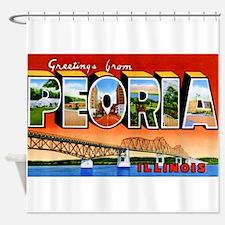 Peoria Illinois Greetings Shower Curtain