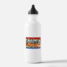Peoria Illinois Greetings Water Bottle