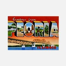 Peoria Illinois Greetings Rectangle Magnet (10 pac
