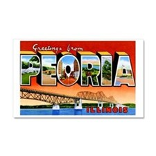 Peoria Illinois Greetings Car Magnet 20 x 12