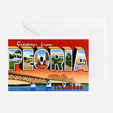 Peoria Illinois Greetings Greeting Card