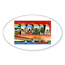 Peoria Illinois Greetings Decal