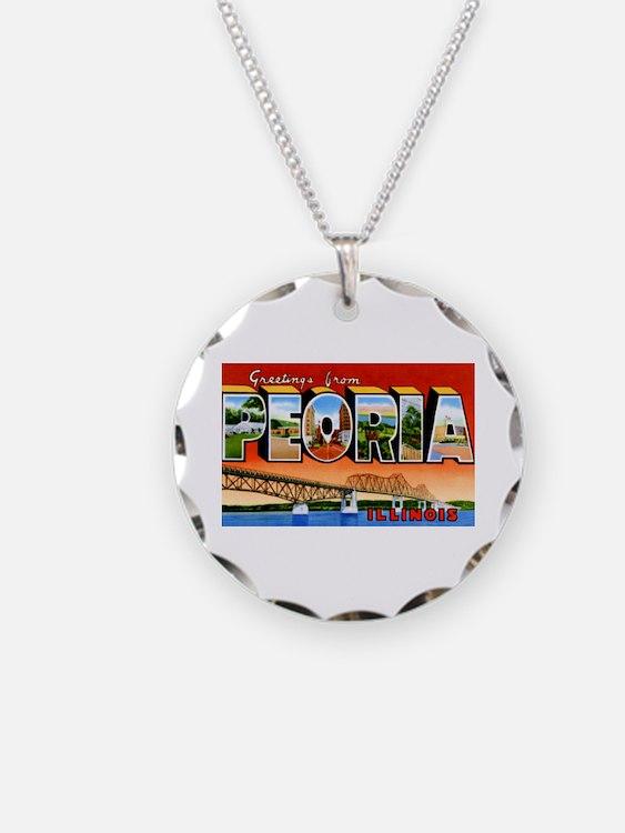 Peoria Illinois Greetings Necklace