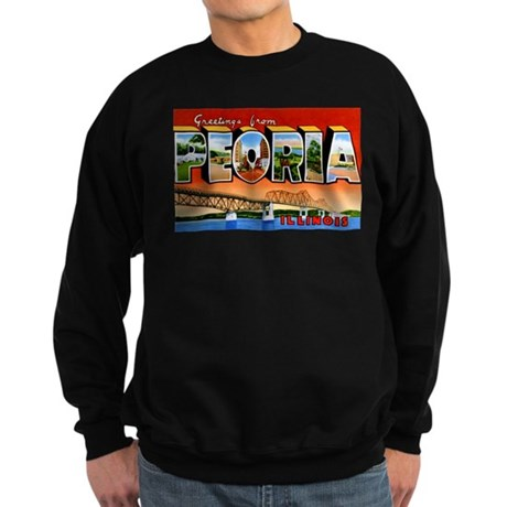 Peoria Illinois Greetings Sweatshirt (dark)