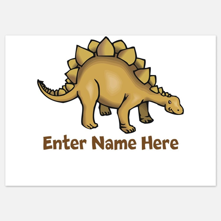 Personalized Stegosaurus Invitations
