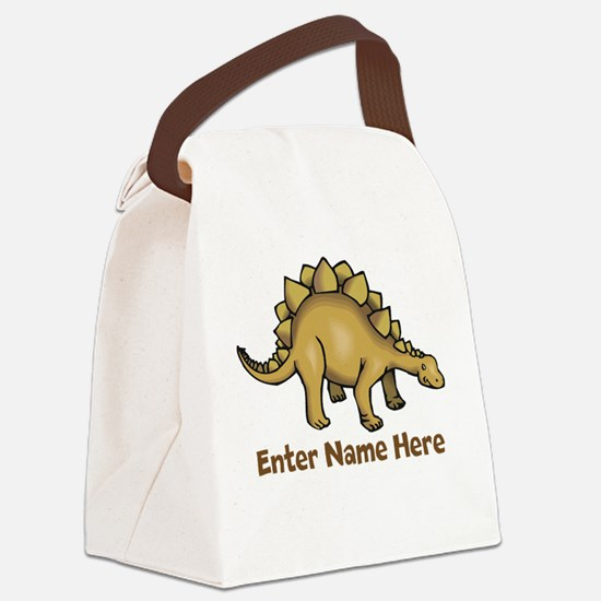 Personalized Stegosaurus Canvas Lunch Bag