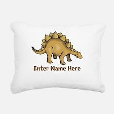 Personalized Stegosaurus Rectangular Canvas Pillow