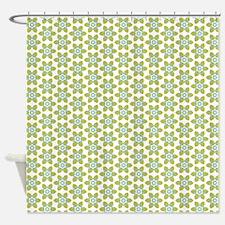 Eco Flower Pattern Shower Curtain
