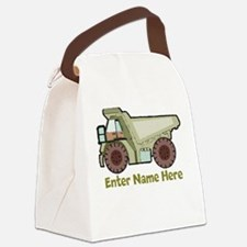 Personalized Dump Truck Canvas Lunch Bag