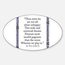 Thou Seest We Are Not All Alone Unhappy Decal