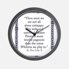 Thou Seest We Are Not All Alone Unhappy Wall Clock