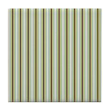 Woodland Stripes Tile Coaster