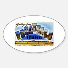 Pocatello Idaho Greetings Sticker (Oval)