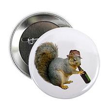 """Squirrel Beer Hat 2.25"""" Button"""