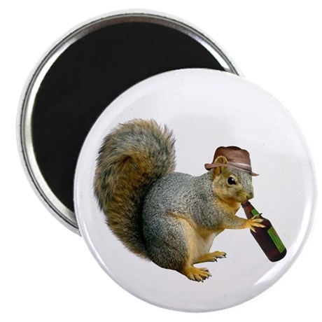 "Squirrel Beer Hat 2.25"" Magnet (10 pack)"