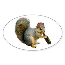 Squirrel Beer Hat Decal