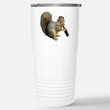 Squirrel Beer Hat Travel Mug