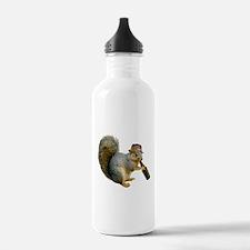 Squirrel Beer Hat Water Bottle