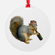 Squirrel Beer Hat Ornament