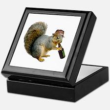 Squirrel Beer Hat Keepsake Box