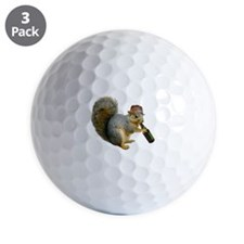 Squirrel Beer Hat Golf Ball