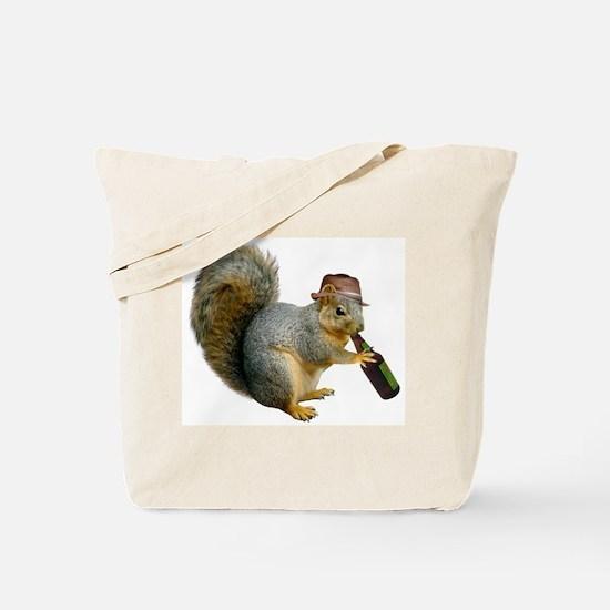 Squirrel Beer Hat Tote Bag