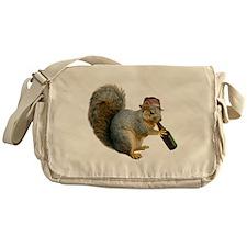 Squirrel Beer Hat Messenger Bag