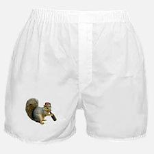 Squirrel Beer Hat Boxer Shorts