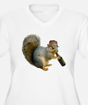 Squirrel Beer Hat T-Shirt