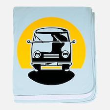 Minivan in Sunset 1 baby blanket