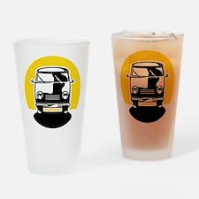 Minivan in Sunset 1 Drinking Glass