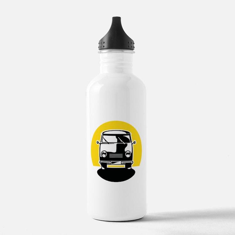 Minivan in Sunset 1 Water Bottle