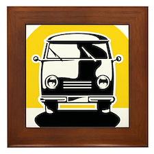 Minivan in Sunset 1 Framed Tile