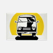 Minivan in Sunset 1 Rectangle Magnet
