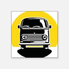 "Minivan in Sunset 2 Square Sticker 3"" x 3"""