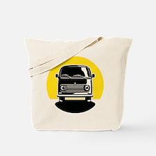 Minivan in Sunset 2 Tote Bag