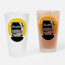 Minivan in Sunset 2 Drinking Glass