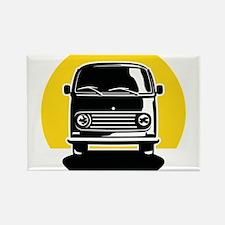 Minivan in Sunset 2 Rectangle Magnet