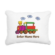 Personalized Train Engine Rectangular Canvas Pillo