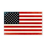 Vintage American Flag Rectangle Car Magnet