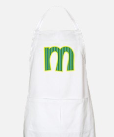 Initial M with Blue/Green Stripes Apron