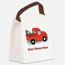 Personalized Tow Truck Canvas Lunch Bag
