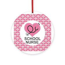 School Nurse Ornament Gift Ornament (Round)