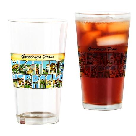Western Nebraska Greetings Drinking Glass