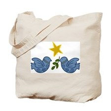 Doves With Star Tote Bag