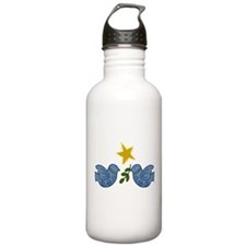 Doves With Star Water Bottle
