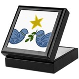 Dove of peace Square Keepsake Boxes